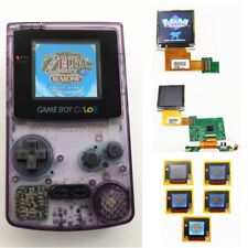 Purple Refurbished Game Boy Color GBC Console With Highlight Back Light LCD
