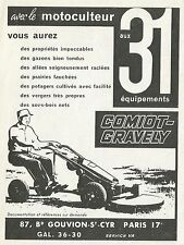 W5004 Motocoltivatore Comiot-Gravely - Pubblicità 1962 - Advertising