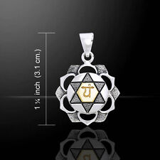 Anahata Heart Silver and Gold Chakra Pendant by Peter Stone