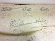 BEAUTIFUL LINEN LOOK CREAM FLORAL PRINT DESIGNER CURTAIN FABRIC 10 METRES