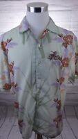 Las Vegas Button Down Floral Hawaiian Camp Shirt XNT Men's Size Large