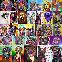 5D DIY Diamond Painting Dog Cross Stitch Embroidery Needlework Mosaic Home Decor