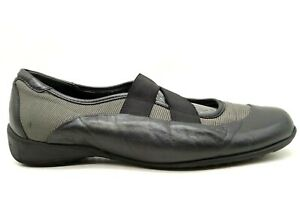 Munro American Black Leather Casual Slip On Driving Loafers Shoes Women's 9.5 W