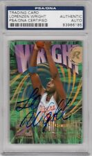 Lorenzen Wright Clippers 1996 SkyBox Z-Force Signed AUTOGRAPH PSA DNA
