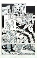 Original Art Page (Doc Savage: Devil's Thoughts #1, pg#17) Steve Stiles (DS#0193