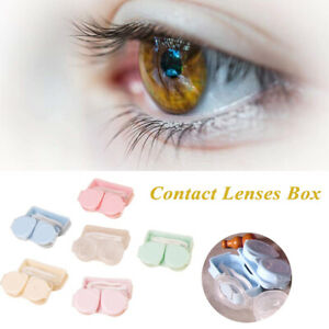 With Tweezers Suction Contact Lenses Box Contact Lens Case Storage Container