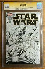 Star Wars (2nd Series) #1 CGC SS 9.8 Stan Lee 1:500 Joe Quesada Sketch Variant