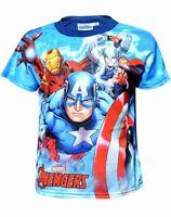 Boys T-Shirt Marvel Avengers Hulk Captain America Infinity War Top Tee Age 4-12