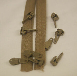 Beige Zipping - 25m continuous length