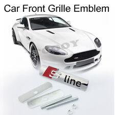 3D Metal Silver Sline Logo Car Auto Truck Front Hood Grille Grill Badge Emblem