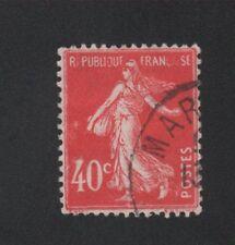 FRANCE N°194 40 c semeuse variété légende partielle oblitéré