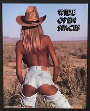 Wide Open Spaces Sexy T & A Nice Butt Vintage Poster / Print 16 x 20