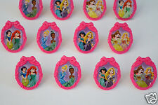 12 Disney Princess Cup Cake Ring Topper Party Goody Loot Bag Filler Favor Supply