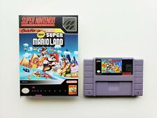 New Super Mario Land - Custom Case / Game SNES Super Nintendo English USA Seller