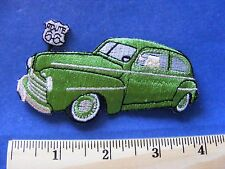route 66 patch  (green classic car)