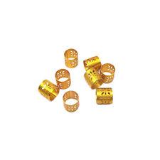100X Hair Dread Braids Dreadlock Beads Adjustable Cuff Clip Micro Ring Bead