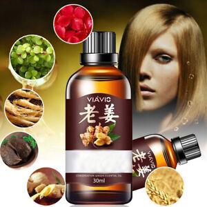 30ml Ginger Fast Hair Growth Thickener Serum Anti Loss Repair Essence Oil Liquid