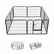 Extra Large Heavy Duty 8 Piece Puppy Dog Run Enclosure Welping Pen Playpen DCUK