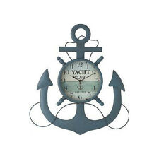 Transpac vintage Retro Metal Anchor Wall Clock Home decor Holiday Gifts ocean