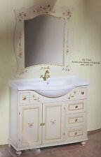Mobile da Bagno  classico  colore avorio con decorazioni in legno foglia oro