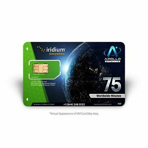 Iridium Global 75 Minute 30 Day Prepaid SIM