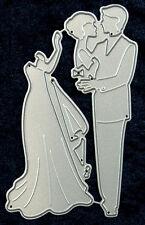 All Occasion Dies - Romantic Couple  Set of 2 Metal Craft Dies  Robert Addams 92