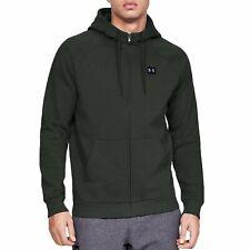 Under Armour Rival Fleece Hoodie for Men Full Zip Olive Sport Casual Top New