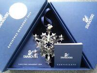 Swarovski 2004 Large Christmas Ornament/Snowflake, Complete & Perfect !!!