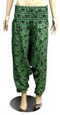Green HAREM Wide Leg YOGA PANTS Free Size Cotton Baggy ALADDIN WOMENS AUSPOST