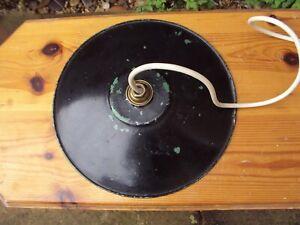 Vintage Black Enamel Light Shade