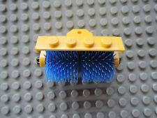 Lego 1 x Wasch Bürste Straßenkehrer 2578a gelb, Bürsten blau  6649 7242 4933
