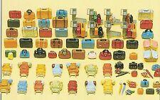 bagages de voyage 90 non-peintes pièces Preiser 17005 SPUR HO (16,5 mm)