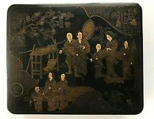 Antique Japanese Signed Maki-e Lacquer Hand Painted Box