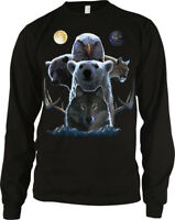 Bear Wolf Eagle Animals Together Moonlight Kingdom Long Sleeve Thermal