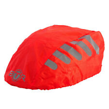 BTR High Visibilty Reflective Waterproof Bicycle Bike Helmet Cover. Red