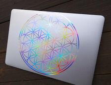 Flower of Life Laptop Decal |Vinyl Sticker Rainbow Holographic | Sacred Geometry