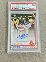 Michael Chavis 2019 Topps Chrome Update RDA-MC Auto X-Fractor /125 Red Sox PSA 9