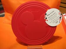 """Le Creuset 7.75"""" Red MICKEY MOUSE Silicone Trivet Surface Protector Pot Holder"""