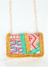 Cross body Bag Multicolor Embroidered Woven Man-made Material Nanette Lepore $78