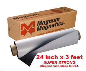 "Magnum Magnetic 24""x3 feet .30mil Super Strong Flexible Material"
