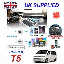 For VW T5 iPhone 5 6 7 8 SE 10 mp3 Aux Digital Audio CD Changer Module 12pin