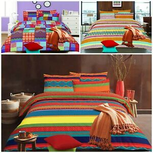 Rainbow Collection Duvet Cover Bedding Set Quilt Cover Pillow Cases All Sizes