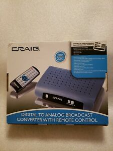 Craig Electronics CVD508 Digital To Analog Broadcast Converter with Remote NEW