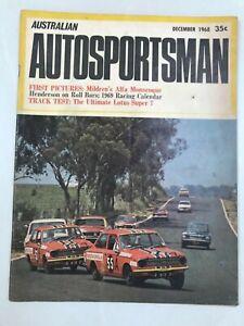 Vintage Australian Auto Sportsman December 1968
