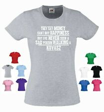 'Kuvasz'-' They say Money can't buy happiness but' Ladies Dog T-shirt