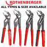 Rothenberger Water Pump Pliers Pipe Plumbing Grips Wrench Spanner Rogrip SPK Box