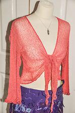 QUALITY bali SHRUG fine knit net mesh wrap GRINGO FAIR TRADE 50 col FAST POST x