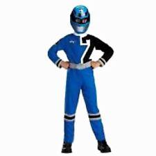 Power Rangers SPD Blue Ranger Costume Size 7-8 MEDIUM Standard New