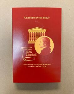 2005-P $1 Chief Justice John Marshall Silver Dollar and Chronicles Set in OGP BU