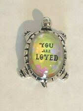 """Lucky Message Turtle Figurine """"You Are Loved"""" Encouragement Ganz"""